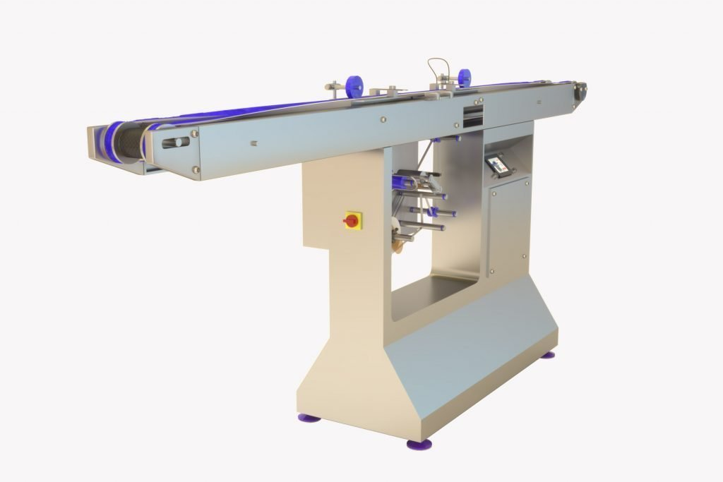 chocolate bottom labeling machine