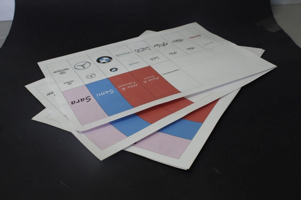 Printed papers for sheet chocolate wrapping machine