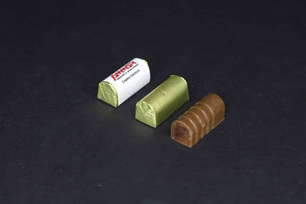 Chocolate wrapped with band